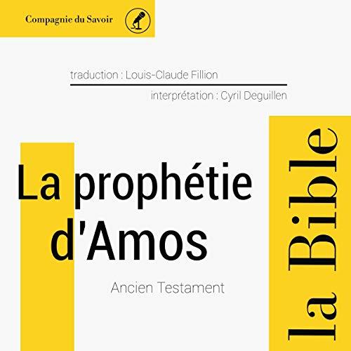 Couverture de La prophétie d'Amos