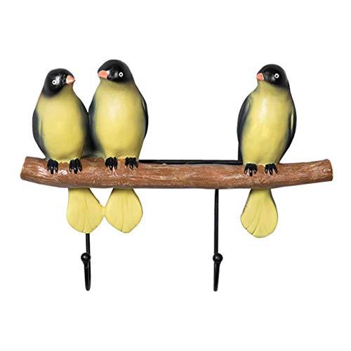 Zapatos Mostrar bastidor Abrigo montado en la pared Pasadora de perchero Rack Resina Gancho Clave Marco Decoración Gancho Lindo Pájaro y Rama Decoración Gancho Para Entrada Dormitorio y Baño Closet Mú