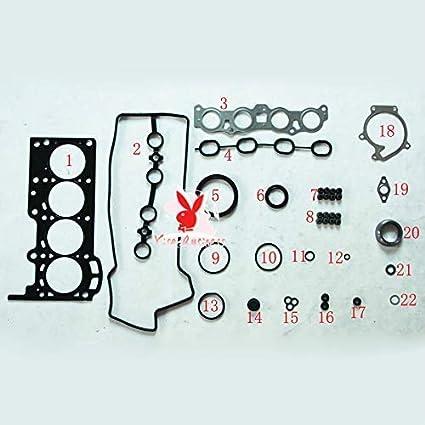 yise-P026 K3 K3VE K3VE2 Engine Full gasket set kit for Daihatsu TARUNA STORIA YRV COPEN Atrai SIRION MATERIA 1.3L 04111-97401 04111-97403 04111-97401-000 04111-97403-000 411197401 50231000