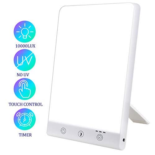 3 Helligkeitsmodi 10000 32000 Lux Light Therapy Lampe SAD Lamp Lichttherapie ohne UV geeignet zu Hause//B/üro wei/ß