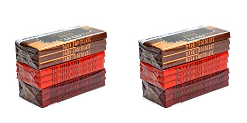 Trader Joe's Belgian Dark Chocolate Bars 3 Variety Pack - Total 9 Bars