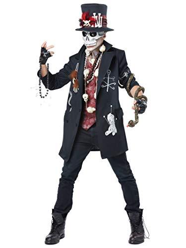 California Costumes Men's Voodoo Dude, Black/Burgundy, Medium