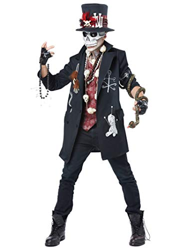 California Costumes Men's Voodoo Dude, Black/Burgundy, Medium