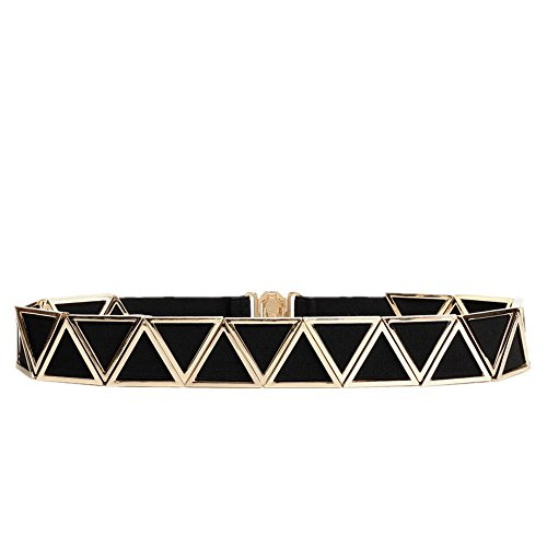 Cinturón de cintura para mujer Accesorios colgantes simples de las mujeres Adecuados para todas las estaciones y lugares Cinturón Triángulo Vestido Cinturón Cinturón Falda decorativa Elástico
