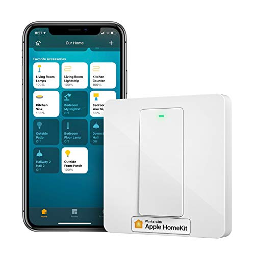 Interruptor de Pared Inteligente, 1 Vía, 1 Canal. Wi-Fi Interruptor. Compatible con HomeKit Siri, Alexa, Google Assistant y SmartThings. meross. (Se Requiere un Cable Neutral)