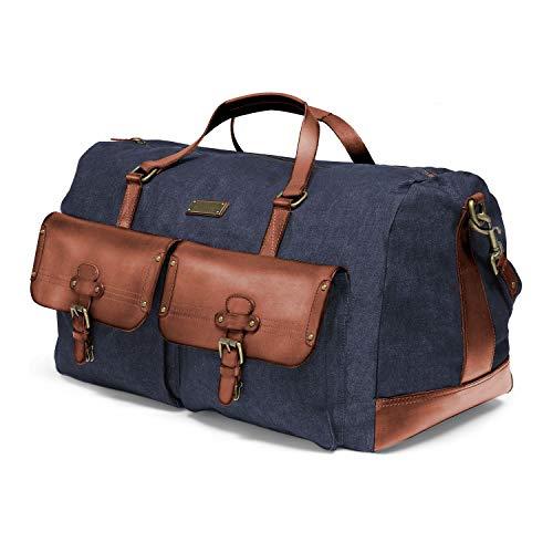 DRAKENSBERG Long Weekender - große Reisetasche im Vintage-Safari-Design, Damen und...