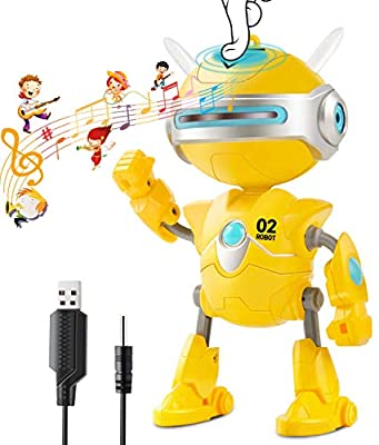 Inncen Repeats Voice Robot Toy, Interactive Talking Toy Robot with Flashing Lights' Eyes Ears, Smart Educational Robot Sound and Touch Control Speaking Singing Dancing Intelligent Toys for Kids