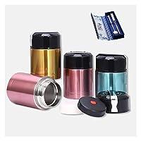 断熱米バケツバケツ 800ml1000mlシチューフード容器魔法瓶ボトル水スープサーマルステンレス鋼真空給食ボックス真空フラスコ、絶縁バケット (Capacity : 1L, Color : 7)