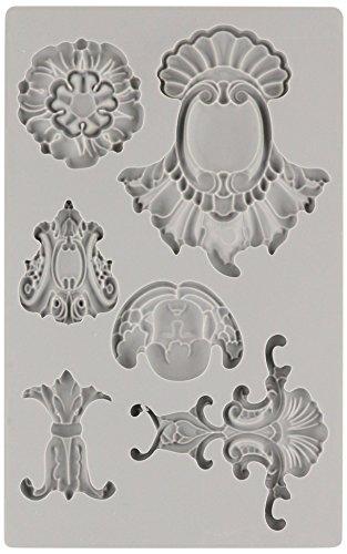 Prima Marketing 814786 Baroque No.2 Iron Orchid Designs Vintage Art Decor Mold, Grey  