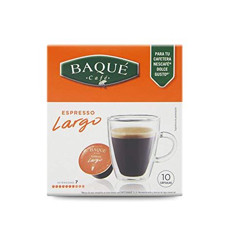 Cafés Baqué - Largo Cápsulas Compatibles con Dolce Gusto® (Pack de 4*10 = 40 Cápsulas)