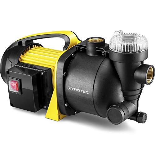 TROTEC Bomba de jardín con Filtro TGP 1005 E Bomba de Agua aspersor para césped 1000 W 3300 l/h Capacidad