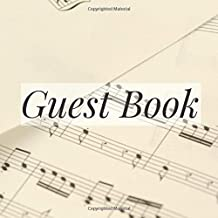 Guest Book: Music Sheets Musician Player Composer Event Signing Book - Visitor Message w/ Photo Space Gift Log Tracker Recorder Address Lines/Advice ... Party Anniversary Wedding Bridal Shower