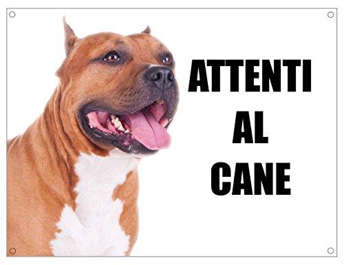PITBULL attenti al cane mod 3 TARGA cartello IN METALLO (20X30)