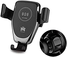 QI Wireless Car Charger | Phone Mount | Strong Vent Clip | 10W QI Fast Car Charging | Compatible iPhone 11/11 Pro/11 Pro Max/XS/XS Max/X/8/8+, Samsung Note9/Note10/S9+/S10+ (Black)