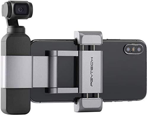 Hensych per PGYTECH per Osmo Pocket/Osmo Pocket 2 Phone Holder +,Porta telefono in alluminio pieghevole Plus Set di parentesi per telefono cellulare (larghezza≤90mm)