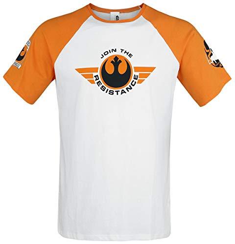 Star Wars X-Wing Pilot T-Shirt White-Orange S