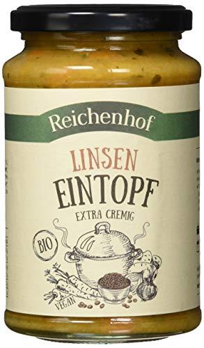 Reichenhof Eintopf mit Linsen, Fertiggericht, cremiger Linseneintopf, vegan, 400 g