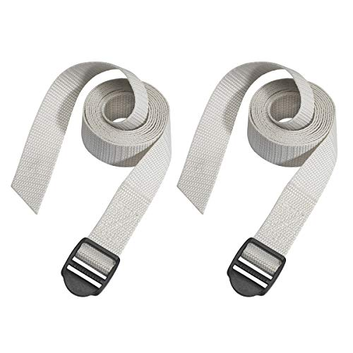 Master Lock 3004EURDAT Luggage Straps with Plastic Buckle, Grey, 1,20m x 25mm strap, Pack of 2
