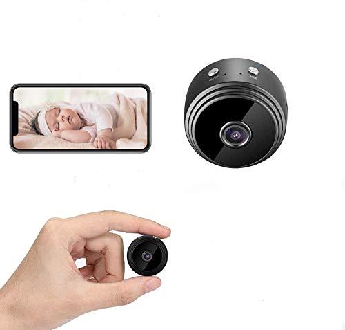 YST Mini cámara, Full HD 1080P, cámara espía, cámara de seguridad inalámbrica Hi-Fi, con visión nocturna, detección de movimiento, alertas de advertencia para interior y exterior