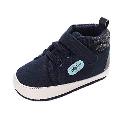 Auxm Zapatos para bebé de 0 a 18 meses, zapatos para aprender a andar, zapatos de bebé, zapatos planos y suaves, antideslizantes, zapatos de lona, color, talla 20 EU