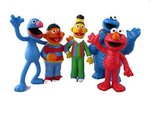 Comansi Sesamstraße Figuren 5'er Set - Grobi, Bert, Ernie, Krümelmonster und Elmo
