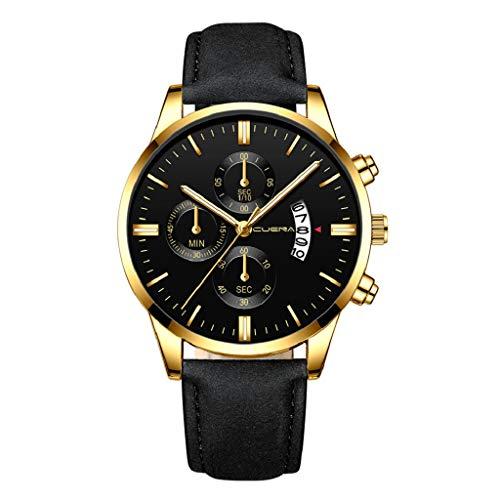 Luckycat Mens Relojes Cronógrafo Analógico Cuarzo Reloj Hombres Impermeable Deporte Reloj Relojes Hombre Relojes de Pulsera Marea Cronometro Impermeable Fecha Calendario Relojes de Hombre Deportivo