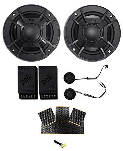 "Polk Audio DB5252 5.25"" 600w Component Car/Marine//Motorcycle Speakers + Rockmat"