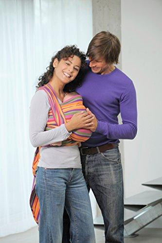 AMAZONAS Babytragetuch Carry Sling Lollipop 510 cm 0-3 Jahre bis 15 kg buntgestreift - 4