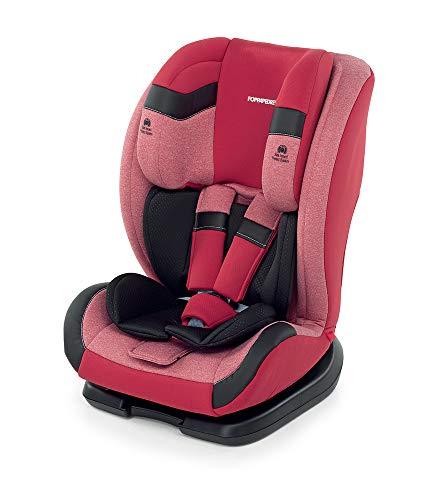Foppapedretti Re-klino Silla de coche Grupo 1-2-3 (9-36 Kg), SEGG.AUTO, Rojo (Cherry)