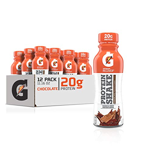 Gatorade Recover Protein Shake Chocolate 20g Protein 1116 fl oz Plastic Bottle Pack of 12