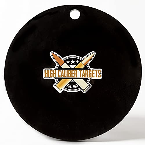 High Caliber AR500 1/2' Thick Targets - for Precision Practice (8' Target - 1 Count, Circle)