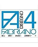 Fabriano 05201797 Disegno 4 Set 20 Fogli, Liscio Riquadrato, 33 x 48 cm, 220 g/mq...
