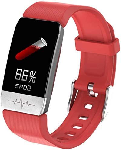 hwbq Pulsera de actividad física con pantalla a color, podómetro, contador de calorías, rastreador de actividad IP68, impermeable, con monitor