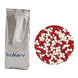 Decora 5081135 Cf 1 Kg Perline Rosso E Bianco In Zucchero
