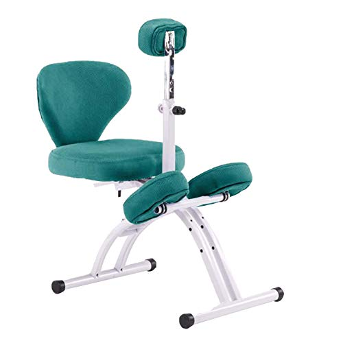 Kneeling Chair Student Writing Chair with Lifting Chest Protector The Seat Can Be Laid Flat Posture Correction Chair for Children Height Adjustable Ergonomic Kneeling Chair with Backrest