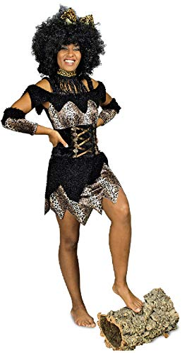 narrenkiste K31250252-44-46 - Vestido de mujer africano, talla 44-46, color marrn y negro
