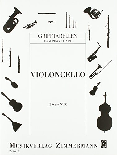 Grifftabelle für Violoncello: Violoncello.