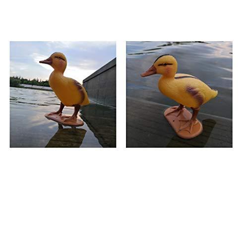 PETSOLA Set of 2 Outdoors Lifelike Floating Duck Hunting Duck Decoys for Garden Yard Lake Decoys