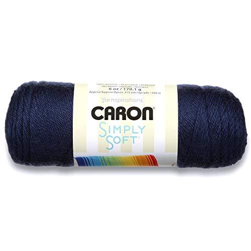 Caron Pelote de laine douce, 170 g/Pelote de 28 m, 6 oz, Bleu (Dark Country Blue)