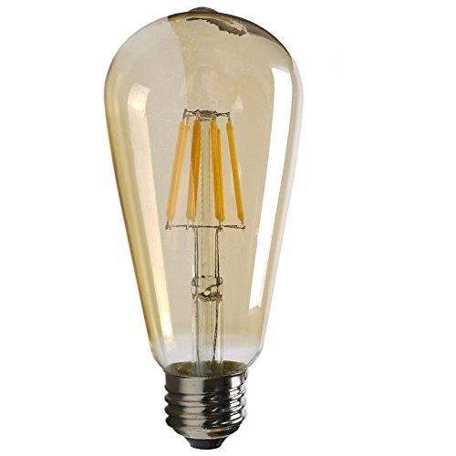 【エジソン東京】 LED フィラメント電球 ST64 アンティーク色 8W ビンテージ エジソン電球 ガラスクリア電球 E26口金 PSE