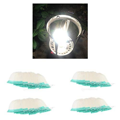 Hellery 40pc Universal Outdoor Senderismo Lámpara de Gas Mantos Mantos de Linterna Cubierta 10x8cm