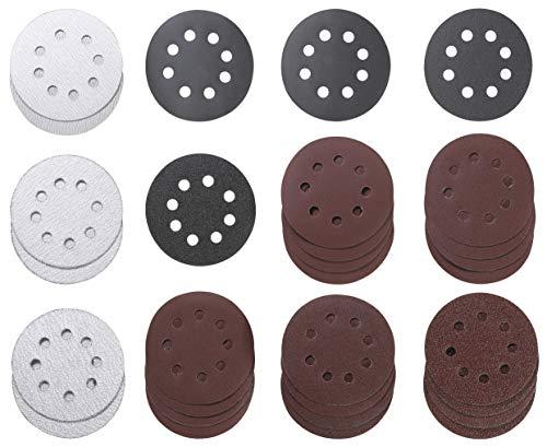 kwb 491885 491885-Juego de Discos abrasivos (30 Unidades, 115 mm de diámetro, Perforados, para máquinas de Lijado), Multicolor