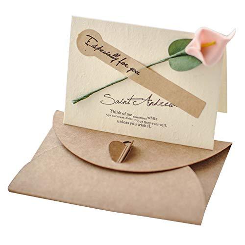 Lumierechat メッセージ カード メッセージカード ミニ プチ 一言メッセージ お礼 フラワー 席札 結婚式 テーブル 多目的 封筒 付き a-9016(10枚/カラーピンク)