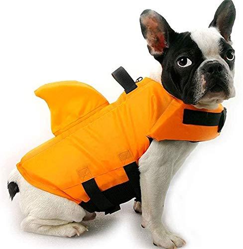 DHGTEP Chaleco Salvavidas para Perros Chaleco de Rescate para Mascotas (Color : Orange, Size : S)