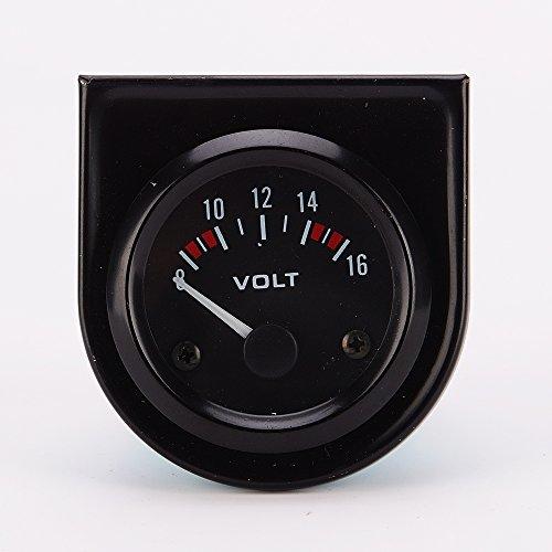 Desconocido Universal del Coche 8-16V Medidor de 52mm de Calibre Voltios Voltímetro Negro