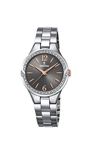 Festina Damen Analog Quarz Uhr mit Edelstahl Armband F20246/2