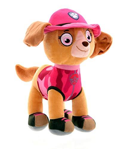 Dinotoys Peluche de la Patrulla Canina de peluche para niños, figuras Jungle Rescue, 28 cm, producto con licencia original (Skye)