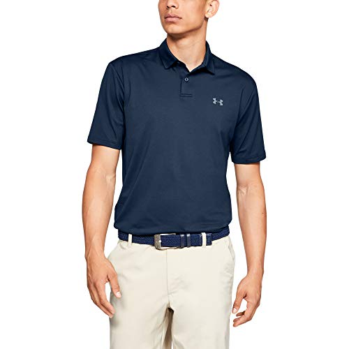 Under Armour Men's Performance 2.0 Golf Polo , Academy Blue (408)/Pitch Gray , Large