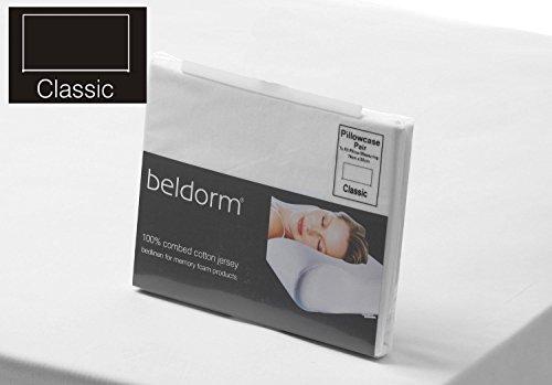 Belledorm 100% Coton peigné Drap Housse en Jersey Mousse à mémoire de Forme en Blanc Lit superposé 75 cm x 200 cm x 25 cm Profondeur