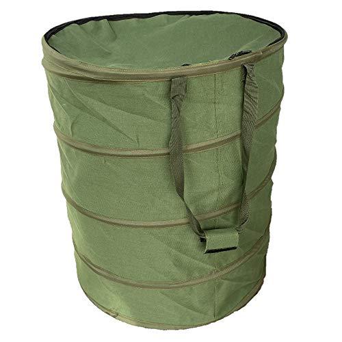Benz Garden® |NEUHEIT 2020| Pop-Up Gartensack mit Deckel 272 Liter - Selbstaufstellend - Gartentasche aus extrem robustem Leinengewebe - langlebiger Laubsack - Gartenabfallsäcke